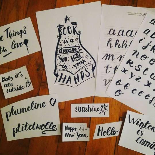 Atelier lettering